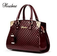 <b>Women</b> Genuine Patent <b>Leather Handbags luxury</b> Shoulder ...