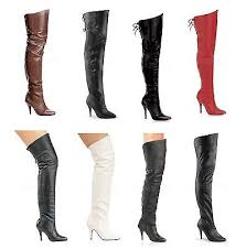 Pleaser LEGEND-8868 8890 8899 <b>Sexy Leather Thigh High</b> boots ...