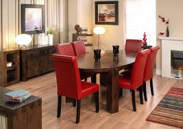 Nice Dining Room Tables Red Leather Dining Chairs For Dining Room Design