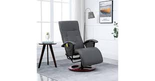 <b>Massage Chair Grey Faux</b> Leather - Matt Blatt