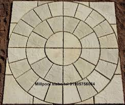 patio slab sets:  x ft paving rotunda circle ampampsq off kit patio slab free del note exceptions ebay