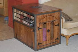 ana white welded and wood dog crate kennel diy projects furniture style dog crates