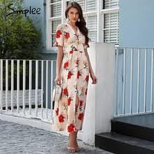 2018 <b>Summer Women Short Sleeve</b> Long Maxi Dress Promotion ...