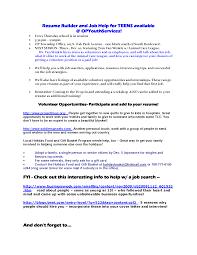 teen resume template cipanewsletter teen job resume template