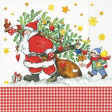 <b>Салфетки</b> ланч 3-х слойные <b>PAPER</b>+<b>DESIGN</b> Дед Мороз с ...