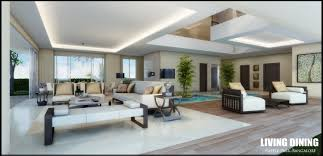 model living rooms: modern white living room with waterpool d model max