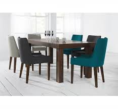 Fabric Dining Room Chairs Uk Alex Linen Upholstered Dining Chair With Walnut Legs