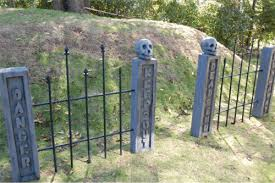 Image result for Family cemetery with wrought iron fence
