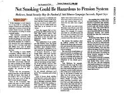 speeches on smoking in a gladwell article in the washington