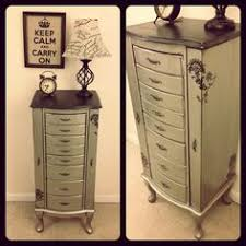 antiqued silver jewelry armoire rustic vintage glam painted furniture shabby chic furniture amazoncom antique jewelry armoire