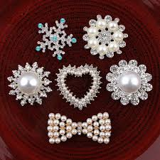 30pcs/<b>lot Round</b>/Snow/Flower/Heart/bows Bling Metal Rhinestone ...