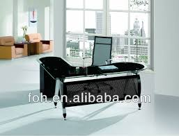 modern design black color glass executive office table manager office desk fohxl 116 amazing black glass office