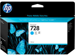 <b>HP 728</b> 130-ml <b>Cyan DesignJet</b> Ink Cartridge — Always Printing