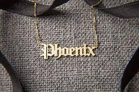 Old English Personalized Name Necklace • Custom ... - Amazon.com