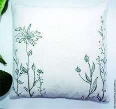 Текстиль, ковры ручной работы. льняные <b>подушки с</b> росписью ...