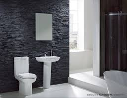 bathroom shower tile design color combinations: elegant modern bathroom design with black and white color scheme