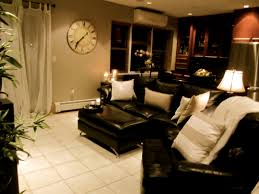 Of Living Rooms With Black Leather Furniture Living Room Brighten Up Dark Couches With Light Pillows These
