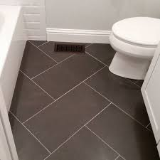 ceramic tile for bathroom floors: bathroom floor tile ideas for small bathrooms diy bathroom this espresso tile provides great contrast to the light flooring is classic and easy to care