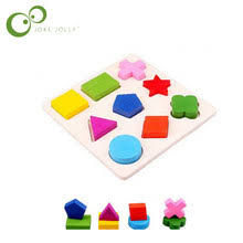 <b>Kids Baby Wooden Learning</b> Geometry Educational Toys Puzzle ...