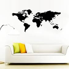 two size hot world map wall stickers office living room decorations 8278 diy vinyl aliexpresscom buy office decoration diy wall
