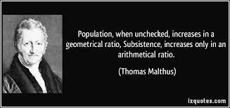 Afbeeldingsresultaat voor malthus