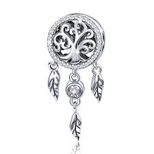 925 Sterling Silver Dream Catcher Holder Family of Tree Charms ...