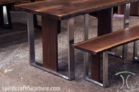 wood slab dining table beautiful: live edge dining table and bench in solid book matched black walnut live edge slabs