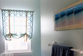 diy bathroom window curtain