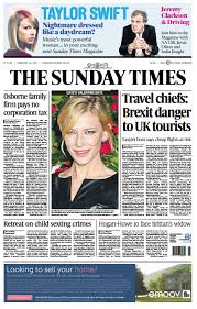 「The Sunday Times on Brexit 」の画像検索結果