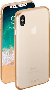 Купить <b>чехол Deppa Gel</b> Plus для Apple iPhone X золотистый в ...