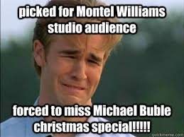 picked for Montel Williams studio audience forced to miss Michael ... via Relatably.com