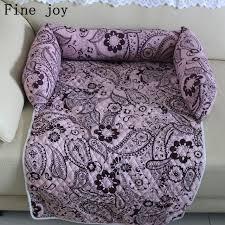 Fine joy Pet Beds Sofas <b>Blanket</b> Floral <b>Print Multifunction</b> Dog Mats ...