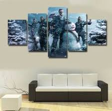 5 Pieces Modular <b>HD Printing</b> Canvas Painting Magical Gate To ...
