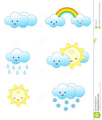 rainy seasons clipart images of cute colorful weather icons including cloudy sunny snowy rainy
