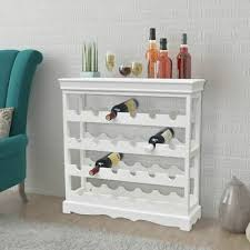 vidaXL <b>Wine Cabinet Abreu</b> White Drink Display Bar Holder Storage ...