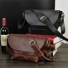<b>European</b> style men's sling bags <b>crazy horse leather</b> Magnet buttons ...