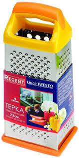 """<b>Терка Regent Inox</b> """"Presto"""" четырехгранная, цвет: оранжевый, 23 ..."""