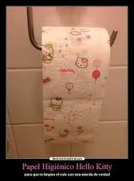 Papel Higiénico Hello Kitty   Desmotivaciones via Relatably.com