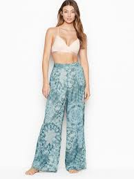 <b>VICTORIA'S SECRET</b> Double-Layer <b>Chiffon</b> Pj Pant - Blue Color ...