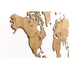 <b>Деревянная карта мира</b> World Map Wall Decoration Exclusive, дуб ...