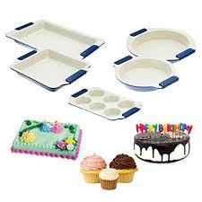 5pc Set <b>Vitesse</b> Ceramic Baking <b>Pans</b> Round Cake Muffin Cupcake ...