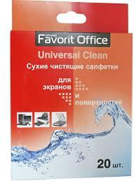 "Favorit Office Сухие <b>Салфетки</b> ""<b>Universal</b> Clean"", 20 шт."