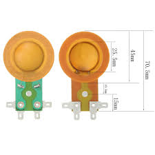 <b>1pcs 25.5mm Horn</b> Treble Film Resin Membrane Drive Head ...