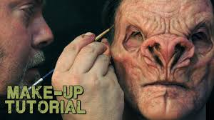 vire demon prosthetic make up painting guide