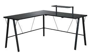 black shape desk 20 photos of the best glass l shaped desk designs black desk vintage espresso wooden
