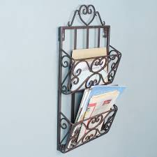 magazine rack wall mount: single pocket wall mount magazine holder wall mounted iron home office store