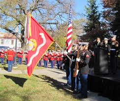 post honors veterans in folger park photo essay capitol hill presentation of colors present arms vets