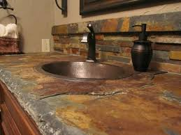 tiling ideas bathroom top: slate countertop  slate countertop