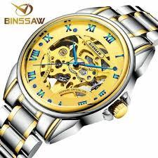 Fashion <b>Luxury Brand BINSSAW Men</b> Watches 2017 New automatic ...