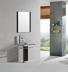 bathroom place vanity contemporary:  inch modern bathroom vanity tempered glass sink with chrome faucet
